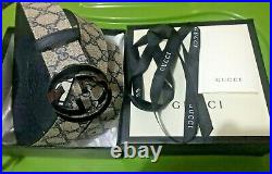 Gucci Imprime Silver Buckle Double G for size (34-36) in
