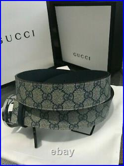 Gucci Imprime double reverse G with silver buckle for size (32-34) in