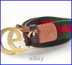 Gucci Leather Belt With Double G Buckle 95cm Size 36-38