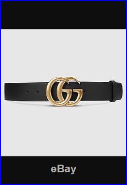 Gucci Leather Belt With Double G Buckle Size 85