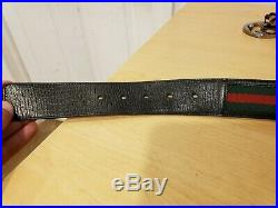 Gucci Men's Belt Red/Green Strap Double G Buckle 48 114984.1766.120.48