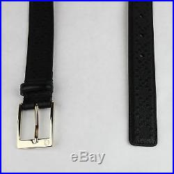 Gucci Men's Black Diamante Pattern Leather Belt withgold Buckle 120/48 345658 1000