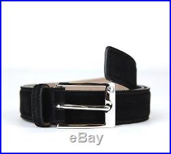 Gucci Men's Black Suede Leather Belt withsquare Buckle 95/38 345658 CA00N 1000