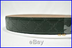 Gucci Signature belt with G buckle Interlocking Guccissim Leather 85/34 $450
