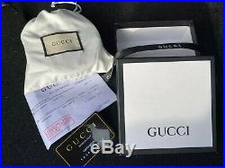 Gucci Supreme Leather Belt Silver GG Buckle with box
