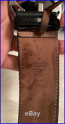 Gucci Web Belt With G Buckle Size 95 Mens