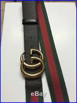 Gucci Web Belt with Double G Buckle 95cm/32-34