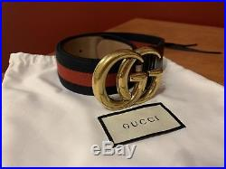 Gucci Web belt with Double G buckle Used Very Good Condition Size 95