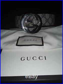 Gucci belt gg supreme with g buckle 34/85