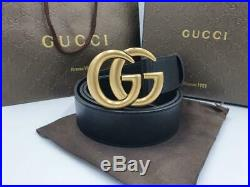 Gucci signature belt with golden buckle