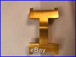 HERMES Authentic 42mm Mens Belt with GOLD buckle size 95