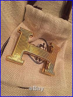 Hermès Reversible Belt 32mm with H Buckle in Gold plated metal