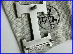 Hermes 32mm Belt H Buckle SILVER BRUSHED MATT with dust cover