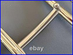 Hermes 49 Permabrass H ROYAL Belt Buckle 38 mm, New with Pouch and white Box