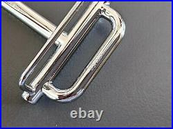 Hermes 54 Plated Silver H ROYAL Buckle H 32mm, New in Pochette & White Box