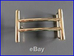 Hermes 63 Permabrass H RIDER Buckle H 32 MM, New in Pochette and White Box