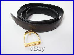 Hermes Authentic Vintage Buckle on Mens Quality Leather Belt