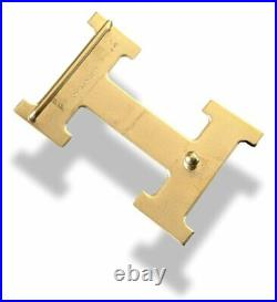 Hermes Brushed Plated Yellow Gold Satined Buckle H 32mm, Used