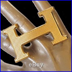 Hermes Buckle Guillochee Gold Or guillochee 32mm