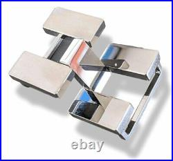 Hermes Plated silver and Palladium ARTICULEE Belt Buckle 32 MM, New with Pouch
