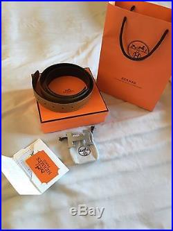 Hermes Reversible Belt New With Bag Silver Buckle Size 38 mm