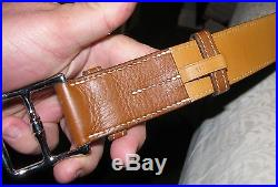 Hermes Tan Brown Leather Belt 42 withBuckle 110 / 38