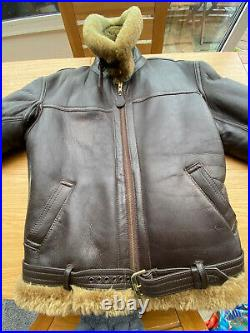 Irvin Flying Jacket Mens 44 Regular Fit With Pockets! Excellent Condition