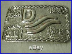 John Wayne Solid Sterling Silver 925 Red River D Belt Buckle Immaculate