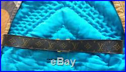 LOUIS VUITTON UNISEX man woman lv initiales GOLD PLATED BELT ON THE MONOGRAM