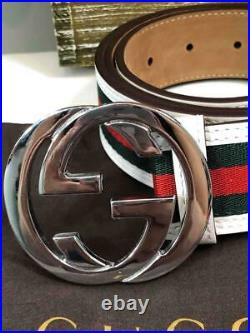 Liked NewGUCCI Men's Classic Red Green White GG Logo Buckle Belt 100 / 40