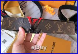 Louis Vuitton Sunset 40MM REVERSIBLE BELT In in Brown with Red/Black buckle
