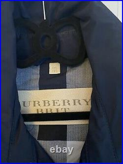 Men's Burberry Mac, Blue, New, Without tags, Never worn, Exellent Condition