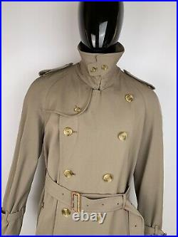 Men's Burberry Vintage 100% Wool Double Breasted Trench Coat Sz 50