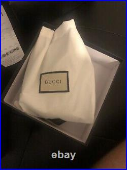 Men's Gucci Web Belt with Silver G Buckle Red & Blue Proof of Purchase