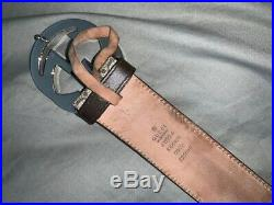 Mens Gucci Logo Buckle Belt (size 90/36) (pre owned)