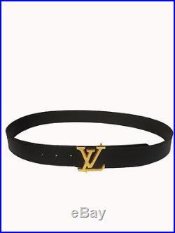 Mens LV Golden Adjustable Logo Belt in Alligator Synthetic Leather + Free Gift
