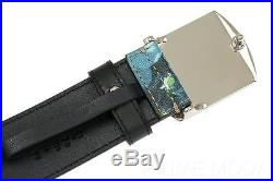 NEW GUCCI GUCCISSIMA SUPREME BLOOMS LOGO BUCKLE BELT 105/42 WithBOX