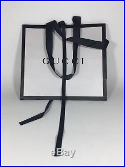 NEW Men's Gucci Leather Black Belt with Silver Double G Buckle, Made in Italy