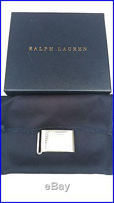 NEW! Ralph Lauren POLO Sterling Silver Engine Turned Belt Buckle mad in USA $495