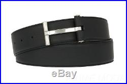NEW TOM FORD CURRENT LUXURY MEN'S BLUE CALF LEATHER T-BUCKLE BELT WithBOX 100/40