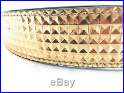 NWT $395 Giuseppe Zanotti Men's Textured Gold Leather Blk Metal Buckle Belt AUTH