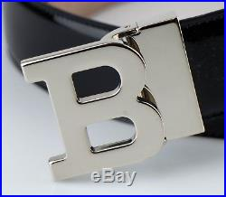 NWT BALLY Men's B Buckle Black Patent Leather Belt Cut to Size $295
