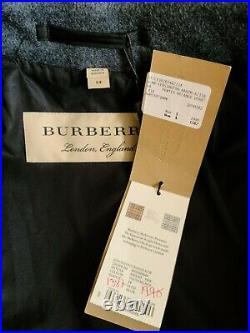 NWT Burberry mens wool/cashmere long belted coat Jacket gray EU54 US XL