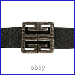 NWT GIVENCHY Black/Brown Leather Reversible 4G Buckle Belt Size 90 $595