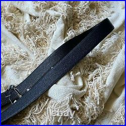 NWT Tom Ford T Icon Reversible Dark Navy & Black Leather Belt 95 CM Signature