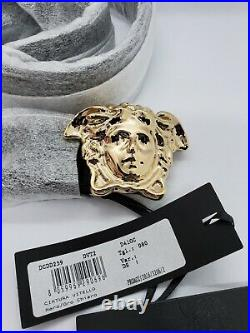 NWT Versace Man's Black Medusa-Buckle Belt MADE IN ITALY Size 80/32