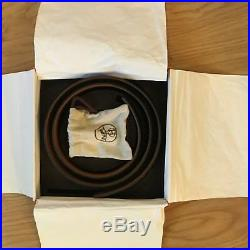 New Authentic HERMES Gold Buckle Crocodile Leather Belt 90cm Brown RRP £3050