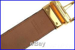 New Burberry Horseferry Check James Leather Reversible Pin Buckle Belt 100/40