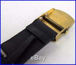 New Gucci Men's Navy White Fabric Belt Military Anchor Brass Buckle 375191 4056