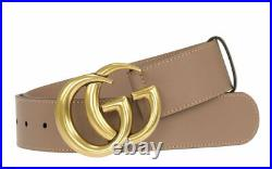 New Gucci Pink Leather Double G Buckle Belt 85/34 4cm Model 400593 Ap00t, 1.5
